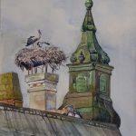 Störche über den Dächern - Ausstellung Apajpuszta / Ungarn 2010 - https://stefanboensch.de