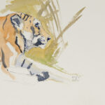 Tigerstudie I, 2010. Aquarell - Bild von Stefan Bönsch, https://stefanboensch.de